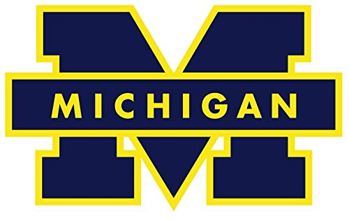 Crazy Discount Michigan Wolverines NCAA Vinyl Sticker Decal Outside Inside Using for Laptops Water Bottles Cars Trucks Bumpers Walls, 3