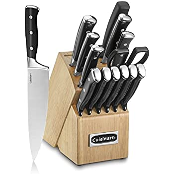 Cuisinart C77BTR-15P Triple Rivet Collection 15-Piece Cutlery Block Set, Black