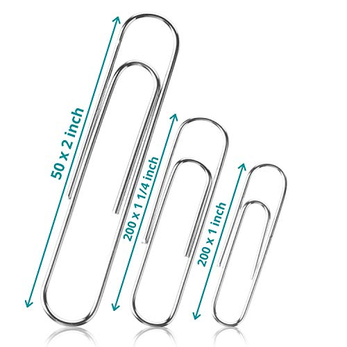 Mr. Pen- Paper Clips, 450 Pack, Silver, Clips Assorted Sizes,...