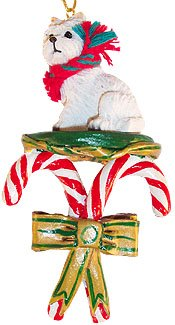 Terrier Dog Christmas Tree Ornament (Westie West Highland White Terrier Dogs Candy Cane Christmas Ornament New by Conversation Concepts )