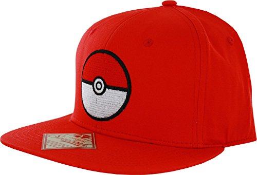 Pokemon Baseball Hat (Pokemon Pokeball Red Snapback)
