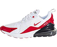 With a design inspired by the Air Max 180 and Air Max 93, the Nike Air Max 270 is equipped with Nike's largest Air heel unit to date. They also feature a knit upper, sock-like construction, asymmetrical lacing, heel pull tab, and a rubber out...