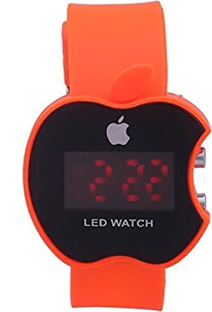 buycrafty naranja Apple forma niños Digital LED reloj de pulsera regalo para los niños, niñas, Navidad regalo: Amazon.es: Hogar