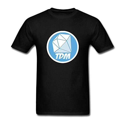 Ptshirt.com-19040-VORTU Men\'s TheDiamondMinecart TDM Logo T-Shirts-B01ERQOERM-T Shirt Design