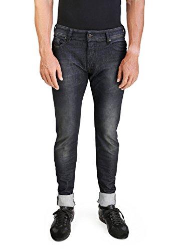 - Diesel Sleenker Men's Slim-Skinny Stretch Denim Jeans 0842Q Black