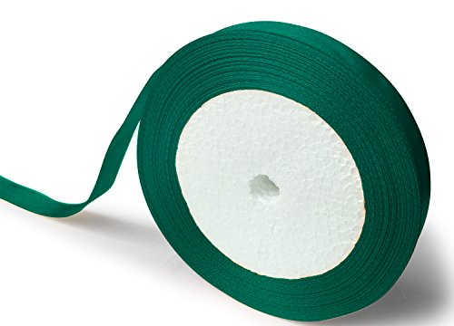 Forest Green Ribbon - KGS Satin Ribbon   25 Yards x 1/2 inch   1 Roll/Pack (Forest Green)