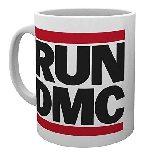 Run Dmc Mug Classic Band Logo Hip Hop Walk This Way Official White ()