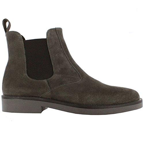 Da Italiane Sneaker Uomo Bottoni Top Scarpe Chelsea Multicolore Grigio Boots 2118 Pelle FwRxqCg