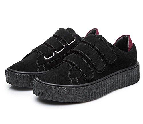 los zapatos del elevador Ms Spring hebilla escogen los zapatos zapatos casuales zapatos mollete de fondo grueso zapatos del estudiante , US5.5 / EU35 / UK3.5 / CN35