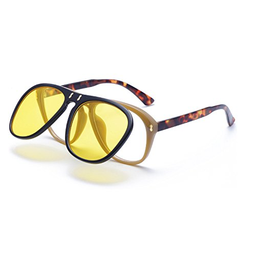 Casual Sol Ocean Los Windbreak Sol Cycling Flip Yellow De Eye Colorido Blue Ojos Cuidado Personalizada Gaze Retro De Moda Gafas Gafas De Sports AzOIzq