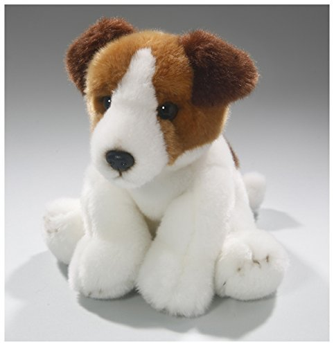 (Carl Dick Jack Russel Terrier dog 8.5 inches, 22cm, Plush Toy, Soft Toy, Stuffed Animal 3348)