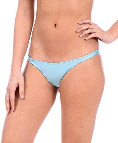 Sexy Mini Brazilian Bikini Thong Swimsuit Bottom by Gary Majdell (Light Blue, Small)