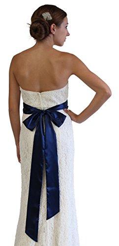 SASH Bridal Satin Navy Blue - Blue Sash