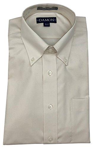 (Damon Ultra Pinpoint Dress Shirt - Ivory, 19-36/37)