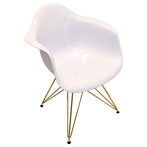 Table Lumisource Plastic (Flair Retro Bucket Seat Chair with Metal Frame Dimensions: 24