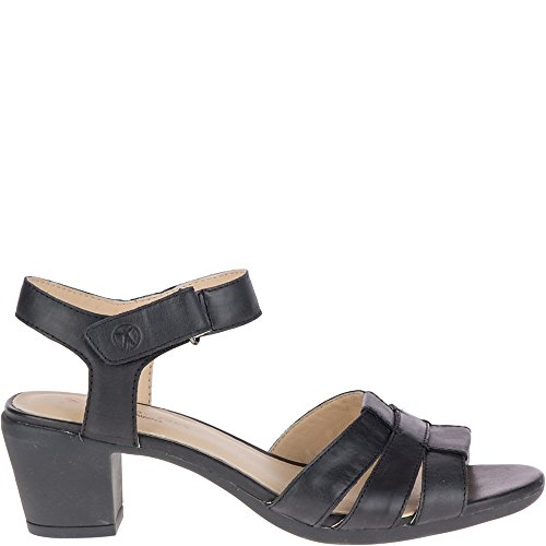 Hush Puppies Womens Masseter Quarter Strap Black Leather 10 W (D)