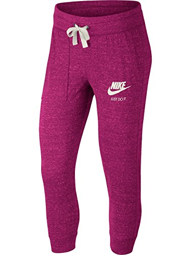 Nike Vintage Jersey - NIKE Sportswear Gym Vintage Capri (LG 22, Sport Fuchsia/Sail)