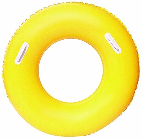 Schwimmring Schwimmreifen Schwimmhilfe Wasserring Ø91cm zur Auswahl (gelb)