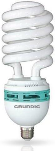 50W corrispondenti a 250W Grundig Lampadina a Risparmio Energetico Half Spiral Jumbo attacco E27 luce fredda