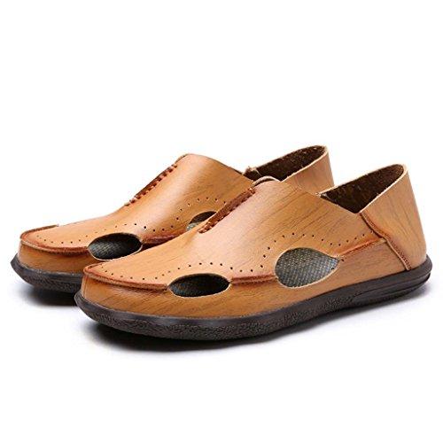 ZXCV Zapatos al aire libre La playa de los hombres de la personalidad calza los zapatos ocasionales de la marea de la manera de las sandalias de la juventud Amarillo