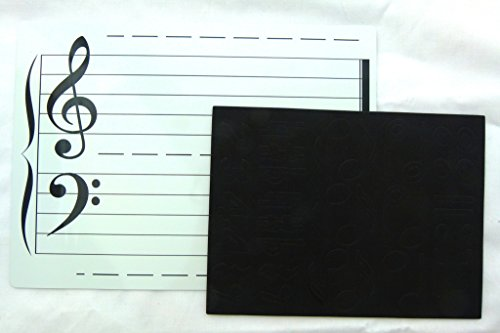 Magnetic Wipe and Clean Music Theory Board (Double Sided) with Music Notes Magnet by Funmusiconline