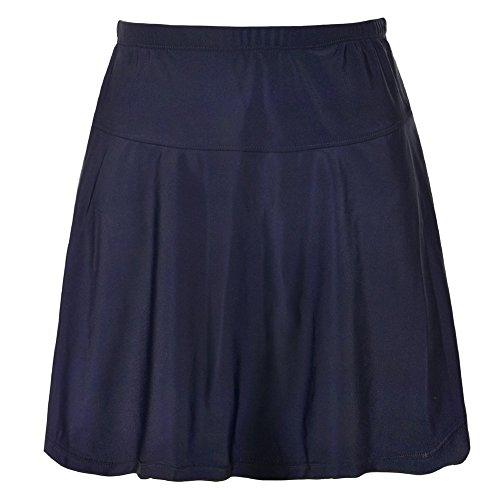 (coastal rose Women's Skirted Bikini Bottom Swimsuit Waistband Swim Skort High Waisted Swim Skirt US16 Navy)