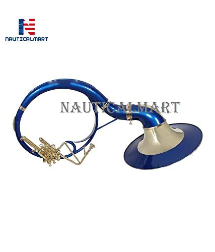 Sousaphone Bb Big Bell 25'' Blue Finish With Bag by NauticalMart (Image #4)