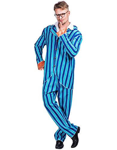 Halloween Austin Cosplay Costume Austin Powers Suit (Shirt & Pants)-One Size Fits All Mens -