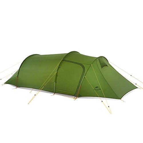 Naturehike Ultralichte Opalus tunneltent voor 3 personen 20D / 210T stof campingtent NH17L001-L met vrije voetafdruk