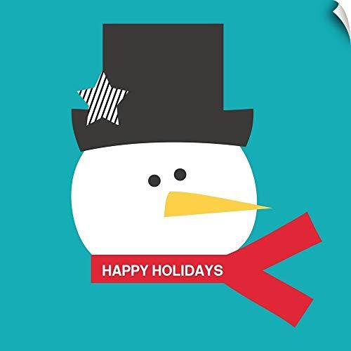(Happy Holidays on Blue I Wall Peel Art Print, 20