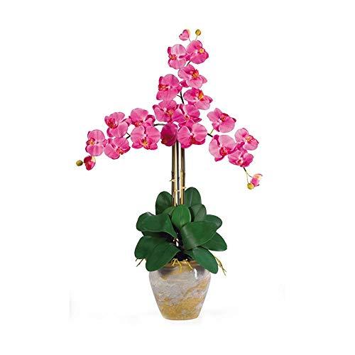 (Nearly Natural Triple Stem Phalaenopsis Silk Orchid Arrangement)