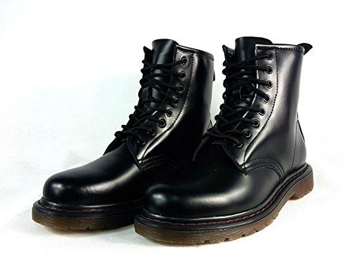 Black Black Anfibi Lacci Vintage Stile 10 Uk Con Similpelle fZvZ7gX