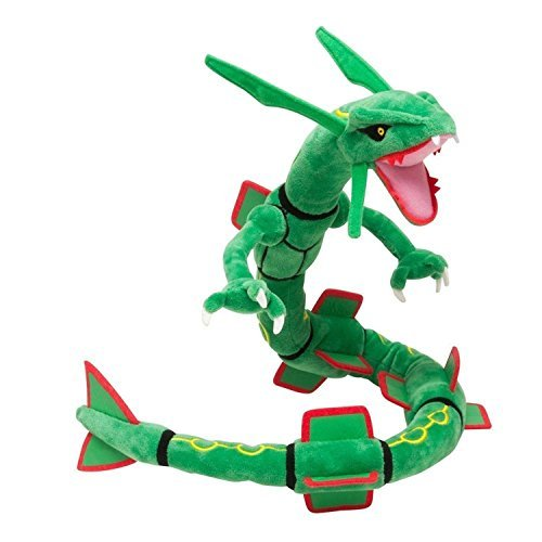 PS Products Children's Generic Mega Rayquaza with Badges Stuffed Doll, Green, 31