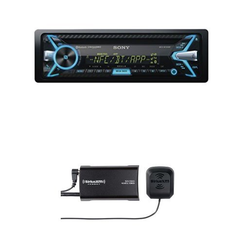 Sony MEXN5100BT Bluetooth Car Stereo Receiver with SiriusXM SXV300 Bundle (Sony Car Stereo Bundle compare prices)