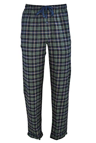 Hanes Men's 100% Cotton Flannel Plaid Pajama Pant, Green, ()