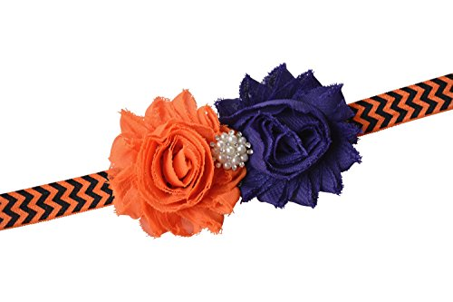 Custom Props For Halloween (Christening Baptism Easter Wedding Headband Baby Toddler Girl Gift Props (Purple & Orange))