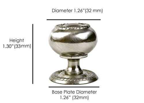 Rope Pull Backplate - Hardware Direct ST3693 Round Rope Kitchen Bathroom Cabinet Furniture Door Drawer Knob Pull Handle w Backplate Brushed Nickel Silver, Brushed Oil Rubbed Bronze Brown (Single, Brushed Nickel)