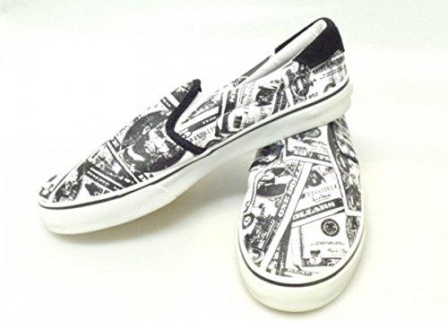 FALLEN Skateboard Schuhe Loker Schwarz/Weiß/Money Print 1B Ware