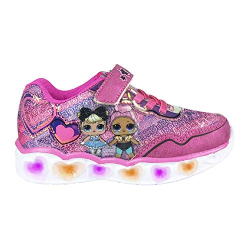 CERDÁ LIFE'S LITTLE MOMENTS Cerdá-Zapatillas Led LOL Surprise de Color Rosa, Niñas