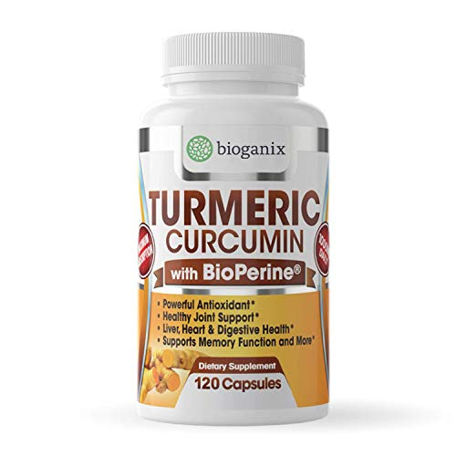 Turmeric Curcumin Supplement with BioPerine, Black Pepper Extract - Anti-inflammatory Pills for Arthritis, Neck, Joint, Back Pain Relief - Made in The USA - 2 Month Supply - 120 Capsules (500 mg)