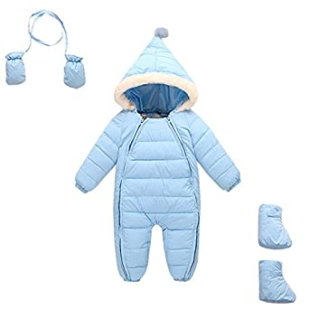 dbe10f43578e Amazon.com  Baby Boys Snowsuit 3 Piece Hooded Toddler All in One ...