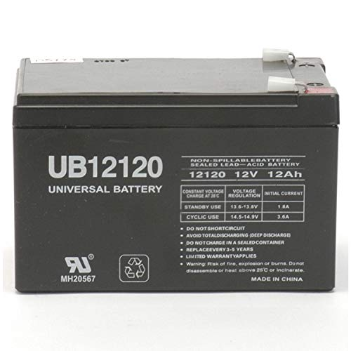 Universal Power Group 12V 12AH Replacement Battery for Daiwa 500 Fishing Reel + 12V 1Amp Charger