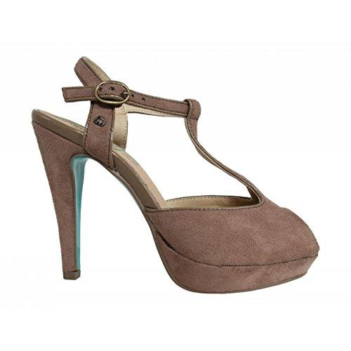 Zapatos de tacón de Mujer MTNG 55210 AFELPADO PIEDRA-TAUP