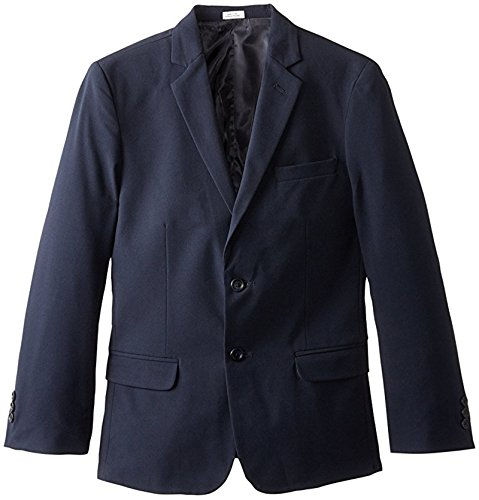 (Calvin Klein Boys' Little Bi-Stretch Blazer, Navy 7)