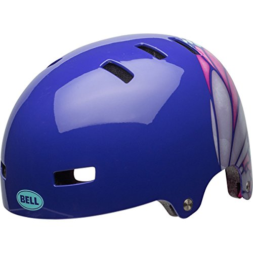 Bell Skateboard - Bell Span Youth Bike Helmet (Gloss Purple/Pink Glide (2018), Small)