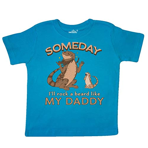 (inktastic - Someday I'll Rock A Beard Like Toddler T-Shirt 4T Turquoise 35b59)
