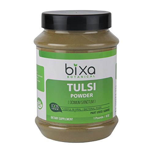 Tulsi Leaf powder (Ocimum sanctum/Holy Basil) Oral Care & Anti-Oxidant – 1 pound / 16 Oz | Ayurvedic herbal supplement for comfortable breathing & Asthama, Also considered as an immunity ()