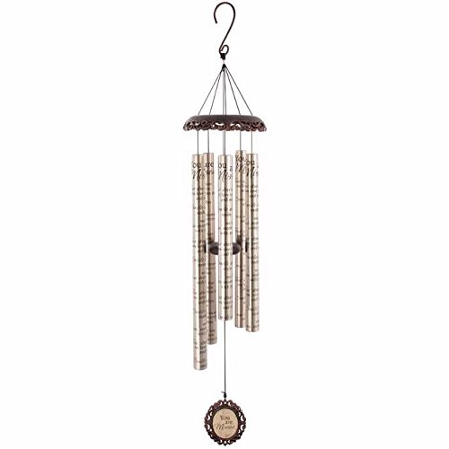 Carson Home Accents Vintage Sonnet Wind Chime, 40-Inch Length, You are Missed
