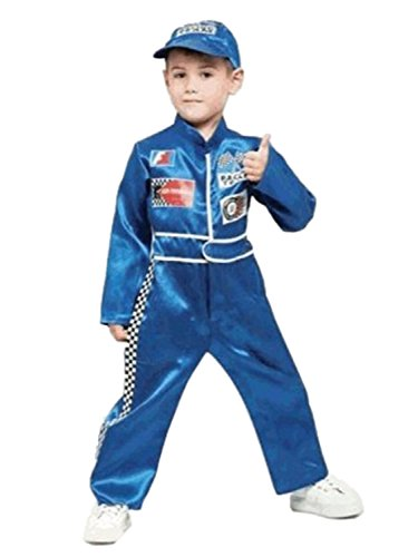 Boys Pit Crew Racing Halloween Costume Jumpsuit & Hat