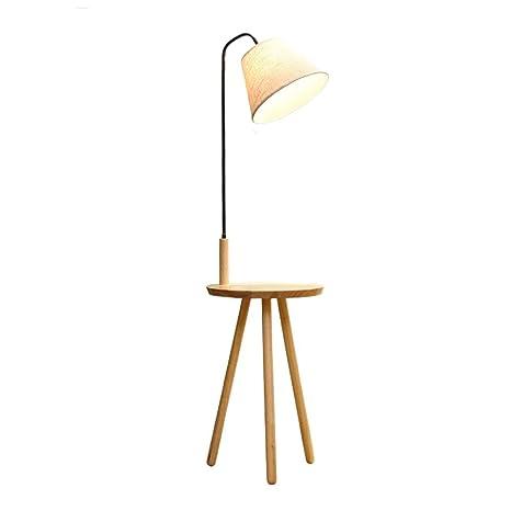 Towero Nordic lámpara de pie de madera creativa sala de ...